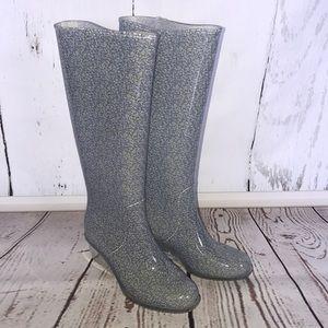 Free Fish Wedge Tall Rain Boots